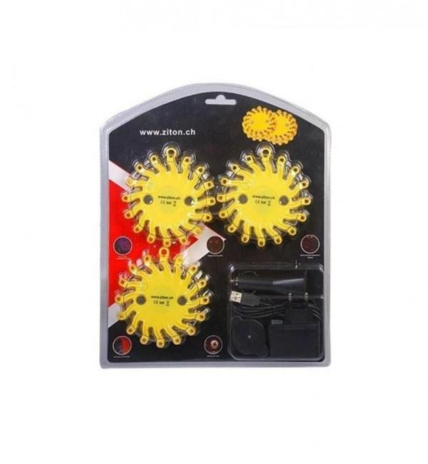 LED-Blitzer/Warnleuchte –3er Set
