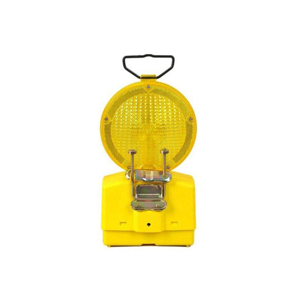 Gelbe Verkehrswarnlampe bzw. Baustellenleuchte